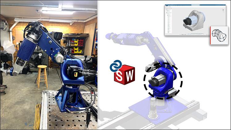 Po domácku vyrobený sedmiosý robot vznikl v SOLIDWORKSu