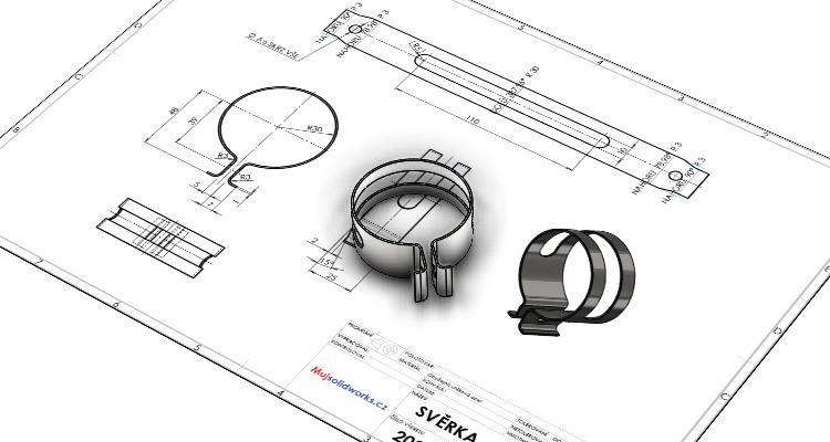 Plechové díly: Postup modelování svěrky #4